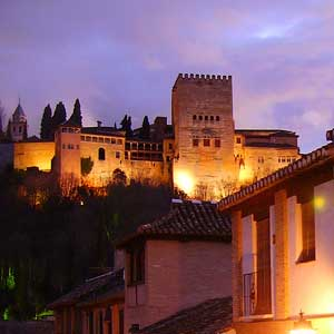 Alhambra at Night with Tickets and Guide